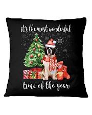 The Most Wonderful Xmas - Saint Bernard Square Pillowcase thumbnail