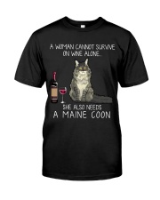 Wine and Maine Coon Classic T-Shirt front