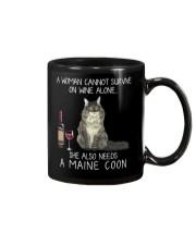 Wine and Maine Coon Mug tile