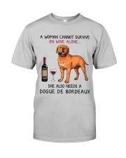 Wine and Dogue De Bordeaux 2 Classic T-Shirt front