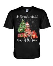 The Most Wonderful Xmas American Pit Bull Terrier V-Neck T-Shirt thumbnail