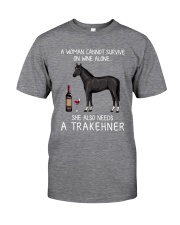 Wine and Trakehner Classic T-Shirt front