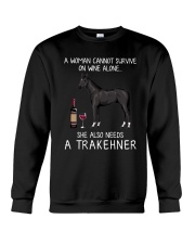 Wine and Trakehner Crewneck Sweatshirt thumbnail
