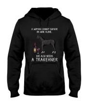Wine and Trakehner Hooded Sweatshirt thumbnail