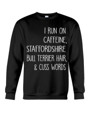 Caffeine and Staffordshire Bull Terrier Crewneck Sweatshirt thumbnail