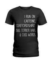 Caffeine and Staffordshire Bull Terrier Ladies T-Shirt thumbnail