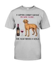 Wine and Vizsla 2 Classic T-Shirt front