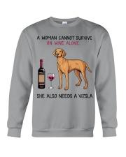 Wine and Vizsla 2 Crewneck Sweatshirt thumbnail