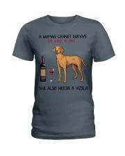 Wine and Vizsla 2 Ladies T-Shirt thumbnail