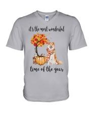 The Most Wonderful Time - Akita V-Neck T-Shirt thumbnail