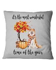 The Most Wonderful Time - Akita Square Pillowcase thumbnail