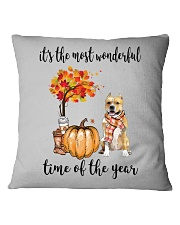 The Most Wonderful Time - Amstaff Square Pillowcase thumbnail