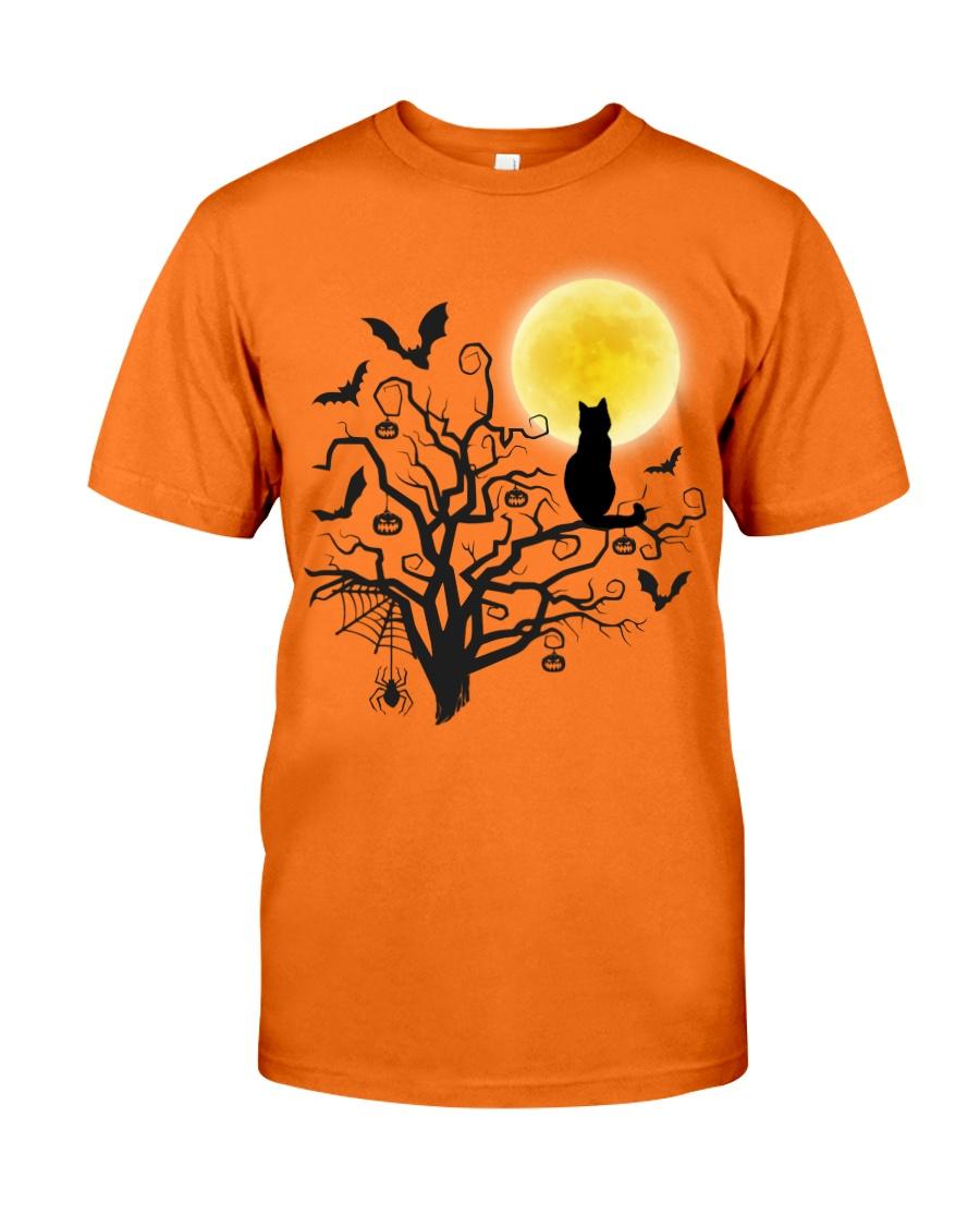 Halloween Cat Tree Classic T-Shirt