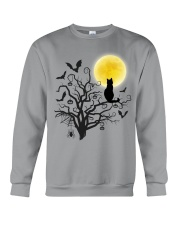 Halloween Cat Tree Crewneck Sweatshirt thumbnail
