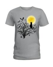 Halloween Cat Tree Ladies T-Shirt thumbnail