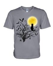Halloween Cat Tree V-Neck T-Shirt thumbnail