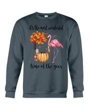 The Most Wonderful Time - Flamingo Crewneck Sweatshirt thumbnail