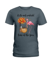 The Most Wonderful Time - Flamingo Ladies T-Shirt thumbnail