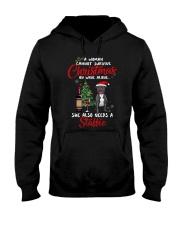 Christmas - Wine and Staffie Hooded Sweatshirt thumbnail