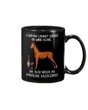 Wine and American Saddlebred Mug thumbnail