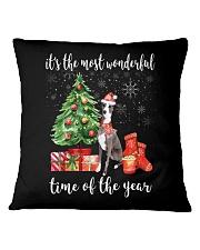 The Most Wonderful Xmas - Greyhound Square Pillowcase thumbnail