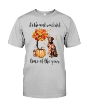 The Most Wonderful Time - Chocolate Labrador Classic T-Shirt front