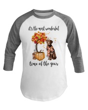 The Most Wonderful Time - Chocolate Labrador Baseball Tee thumbnail