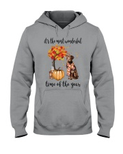 The Most Wonderful Time - Chocolate Labrador Hooded Sweatshirt thumbnail