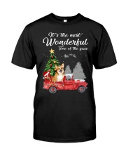 Wonderful Christmas with Truck - Corgi Classic T-Shirt front