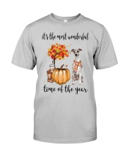 The Most Wonderful Time - Whippet Classic T-Shirt front