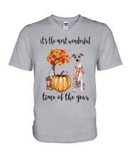The Most Wonderful Time - Whippet V-Neck T-Shirt thumbnail