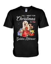 All I Want For Christmas Is Golden Retriever V-Neck T-Shirt thumbnail