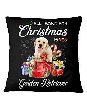 All I Want For Christmas Is Golden Retriever Square Pillowcase thumbnail