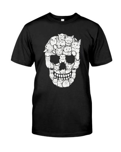 Skull Cats Halloween