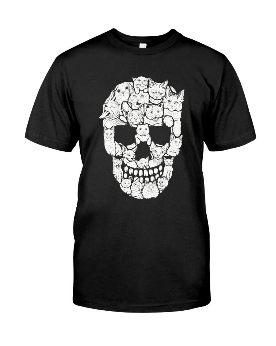 Skull Cats Halloween Classic T-Shirt