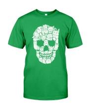 Skull Cats Halloween Classic T-Shirt front
