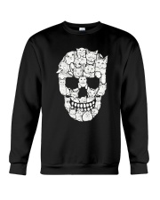 Skull Cats Halloween Crewneck Sweatshirt tile