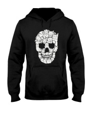 Skull Cats Halloween Hooded Sweatshirt thumbnail
