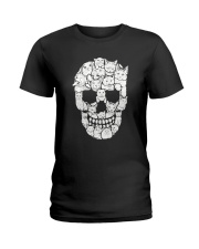 Skull Cats Halloween Ladies T-Shirt tile