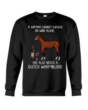 Wine and Dutch Warmblood Crewneck Sweatshirt thumbnail