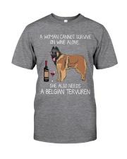 Wine and Belgian Tervuren Classic T-Shirt front