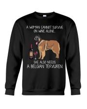 Wine and Belgian Tervuren Crewneck Sweatshirt thumbnail