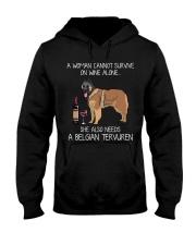 Wine and Belgian Tervuren Hooded Sweatshirt thumbnail