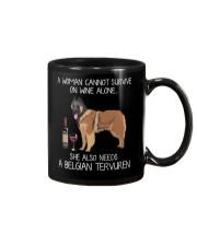 Wine and Belgian Tervuren Mug thumbnail