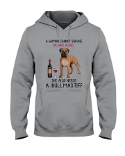 Wine and Bullmastiff 2 Hooded Sweatshirt thumbnail