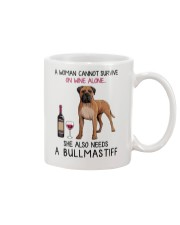 Wine and Bullmastiff 2 Mug thumbnail