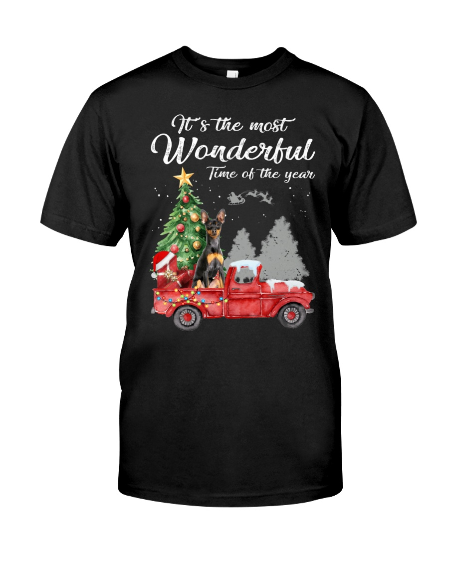 Wonderful Christmas with Truck - Min Pin Classic T-Shirt