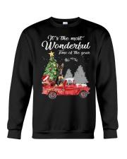Wonderful Christmas with Truck - Min Pin Crewneck Sweatshirt thumbnail