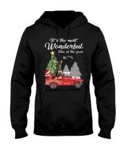 Wonderful Christmas with Truck - Min Pin Hooded Sweatshirt thumbnail