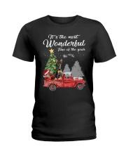 Wonderful Christmas with Truck - Min Pin Ladies T-Shirt thumbnail